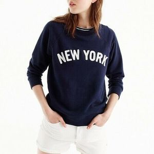 J. Crew New York •S• Pullover Sweatshirt Blue NYC